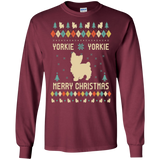 YORKIE Long Sleeve T-Shirt, Ugly Christmas Sweater T-shirt hoodie, tank