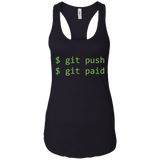 Humorous Git Push Git Paid Software Programming T-Shirt