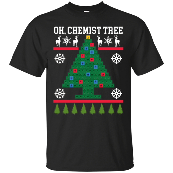 Oh Chemistry Tree Christmas T-Shirt Chemist Tree Shirt