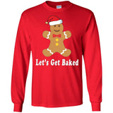 Let's Get Baked Funny Holiday Cookie Christmas T-Shirt