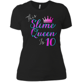 This Slime Queen Is 10 Shirt | Slime Queen 10th Birthday Tee