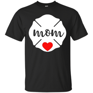 Firefighter Mom Love Shirt Cute Christmas Gift for Grandma