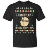 Cream Puff Christmas T-shirt, Ugly Christmas Sweater T-shirt
