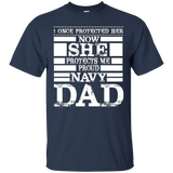 Proud Navy Dad Daughter Military Air Force Navy T Shirt