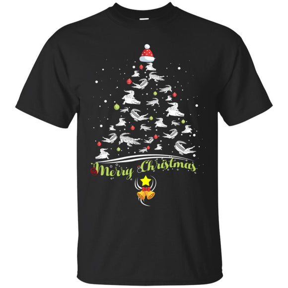 Merry Christmas Tshirt Alligator Lover Xmas Gift