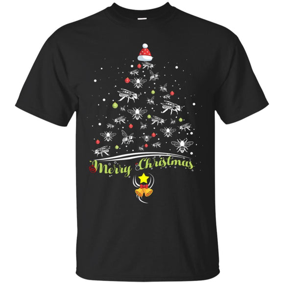 Merry Christmas Tshirt Bee Lover Xmas Gift