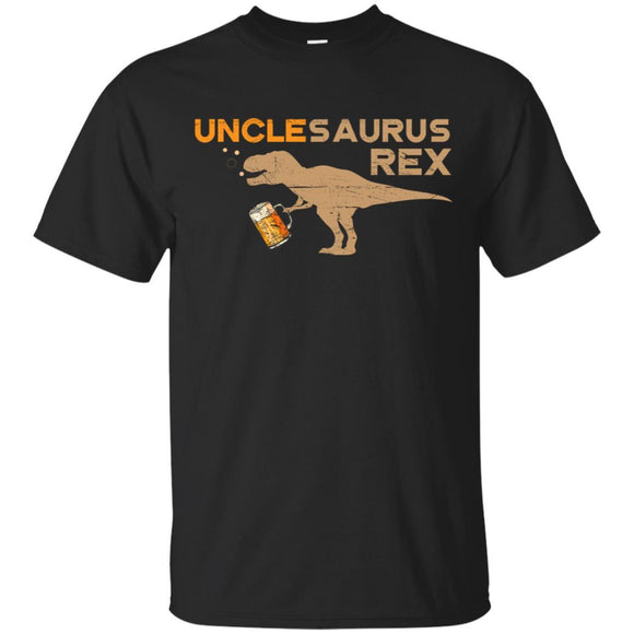 Uncle-Saurus Rex Shirt Funny Dinosaur Beer Lover Gifts