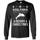 Dolphin Christmas T-shirt, Ugly Christmas Sweater T-shirt, hoodie, tank