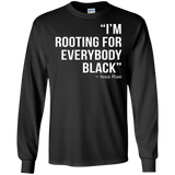 I'M ROOTING FOR EVERYBODY BLACK T-Shirt |BLM Power Tee Shirt