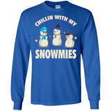 Chillin With My Snowmies Shirt - Funny Christmas Snowman Tee