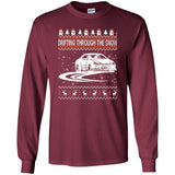Drifting Through The Snow Ugly Christmas Sweater