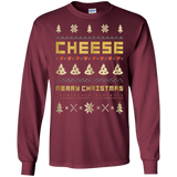 CHEESE Ugly Christmas Sweater T-Shirt Vintage Retro Style, Hoodie, Tank