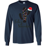 Feliz Navidad Cactus Christmas Pajamas T-Shirt Family Lights