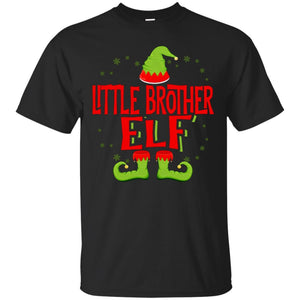 Little Brother Elf Matching Family Christmas T-Shirt