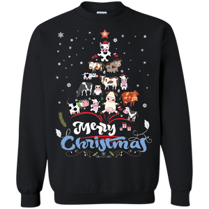 Christmas Ugly Sweater Animal Tree Pine Merry Christmas Hoodies Sweatshirts