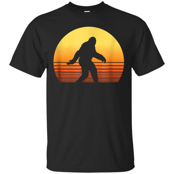 Retro Bigfoot Silhouette Sunset T-Shirt T-Shirt Mugs