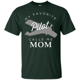 Mom Mother Son Daughter Airplane Pilot T Shirt Birth Day