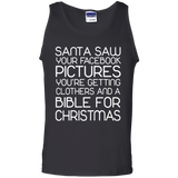 Lifestyle Shirts - Santa saw your facebook pictures you're getting clothers and a bible for christmas, shirt, hoodie, tank