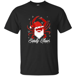 Sandy Claws Santa Claus Crab Christmas Distressed Shirt