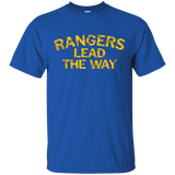 Rangers Lead the Way Faded Grunge Motto T-Shirt