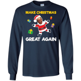 Make Christmas Great Again President Donald Trump Santa Tee