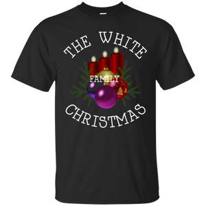 White Family Reunion Christmas Candle Wreath T Shirt