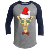 Funny Giraffe with Santa Hat Christmas