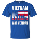 Vietnam War Patriot Tshirt America Flag Warrior 4th July JAQ T-Shirt