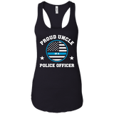 Mens Proud Uncle Of A Police Officer T-Shirt
