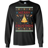 Merry Crustmas Christmas Ugly Sweater Tee Funny Pizza Lover