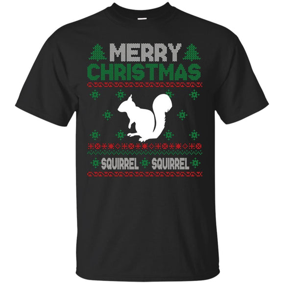 Merry Christmas Ugly ; Kids Squirrel Xmas Shirt Ugly