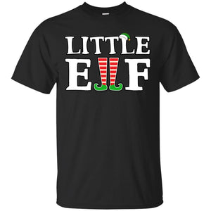 Funny Christmas Shirt LITTLE ELF Matching Family Gift
