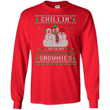Chillin With My Snowmies Ugly Christmas Style T-Shirt