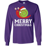 Cute Snail Santa Claus Hat - Merry Christmas Holiday Shirt