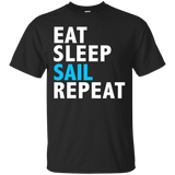Eat Sleep Sail Repeat Funny T-shirt Sailing Yachting Cruise