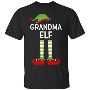 Grandma Elf Grandmother Cute Matching Family Christmas Shirt