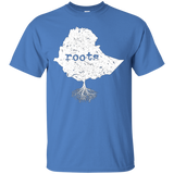 Ethiopia Roots Flag Map Vintage T-shirt Ethiopian Gifts