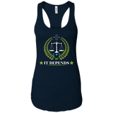 It Depends Attorneys Justice T Shirt Lawyer Gifts
