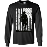 Distressed American Warrior Flag T Shirt Gift US Veteran Day