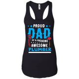 Proud Dad Of A Freaking Awesome Plumber T-Shirt Gift