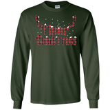 Merry Christmas Buffalo Lumberjack Plaid Deer Antler T-Shirt