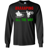 Braaaping All The Way Motocross Sleigh Christmas T-Shirt