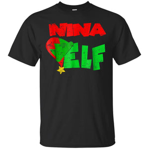 Nina Elf Xmas Matching Holiday Season Christmas T-shirt