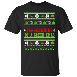 I'm Dreaming Christmas Wine Ugly Xmas Sweater T-Shirt