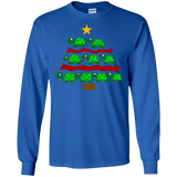 XMAS Funny Turtle Christmas Tree Art T-shirt