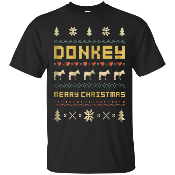 DONKEY Ugly Christmas Sweater T-Shirt Vintage Retro Style, Hoodie, Tank