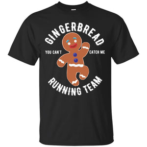 Gingerbread Running Team Graphic Christmas Shirt
