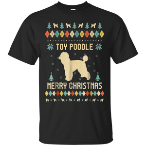 Toy Poodle Christmas T-shirt, Ugly Christmas Sweater T-shirt