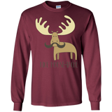 Moosetache Funny Moose Shirt for Kids