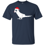 Peach Fronted Conure Santa Hat T-Shirt Gifts For Christmas D